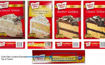 Duncan Hines Cake Mix Recalled
