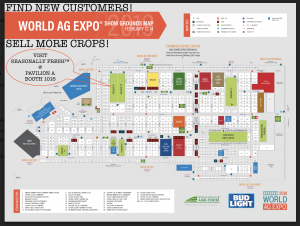 World Ag Expo grounds map