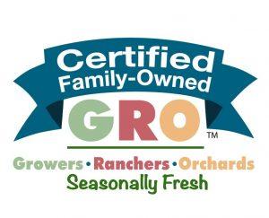Seasonally Fresh Certified Family Owned GRO mark - core mark