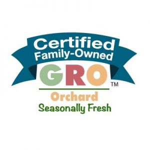 Seasonally Fresh Certified Family-Owned - GRO mark for orchards